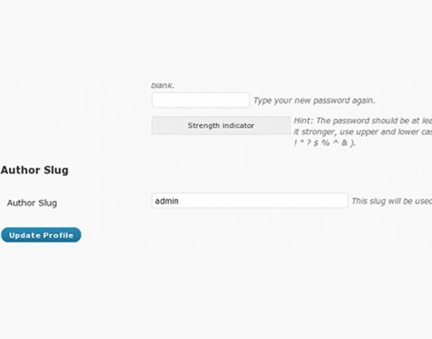 Author Slug Field - WordPress Plugin